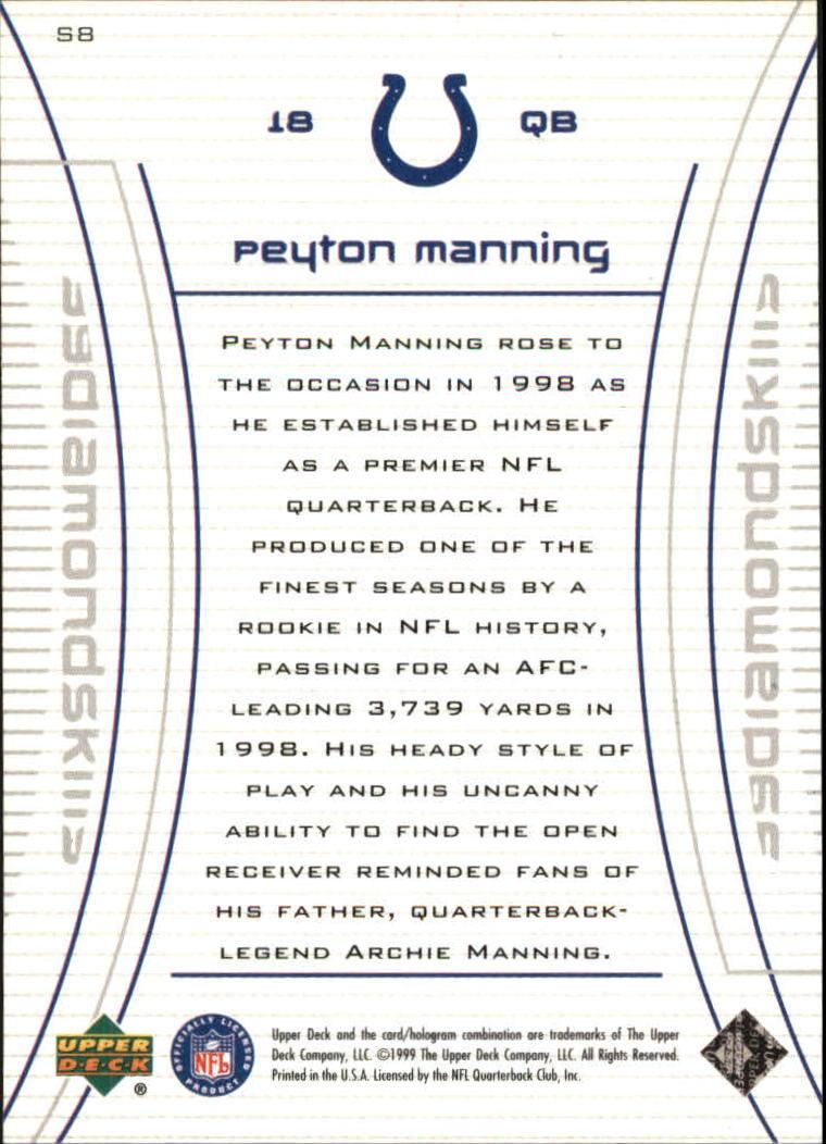 1999 Black Diamond Skills #S8 Peyton Manning back image