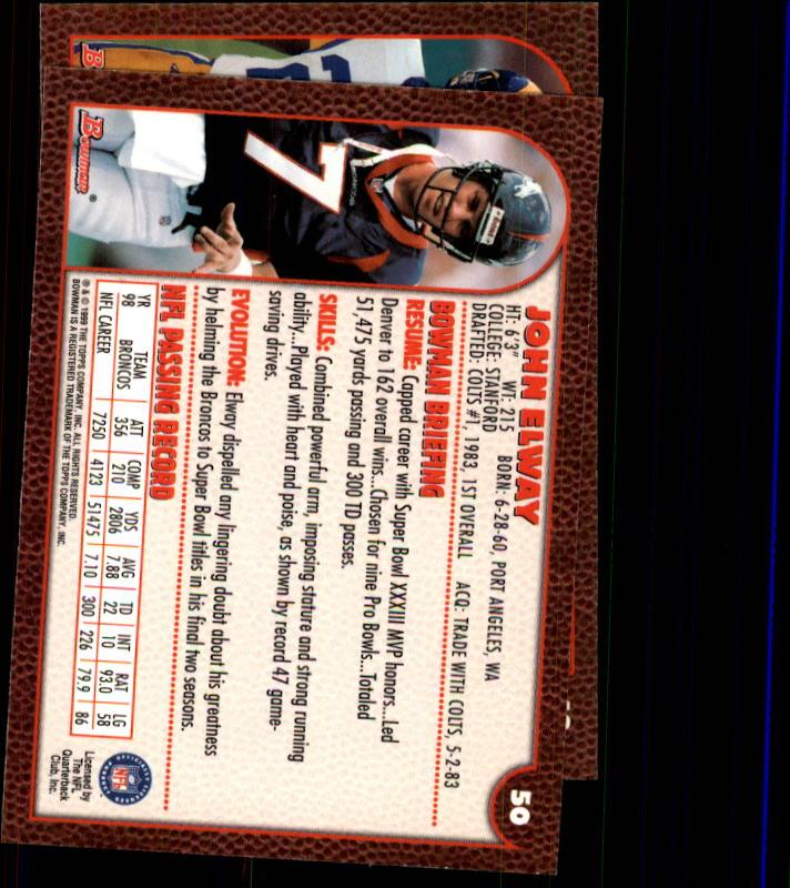 1999 Bowman #48 Marshall Faulk back image