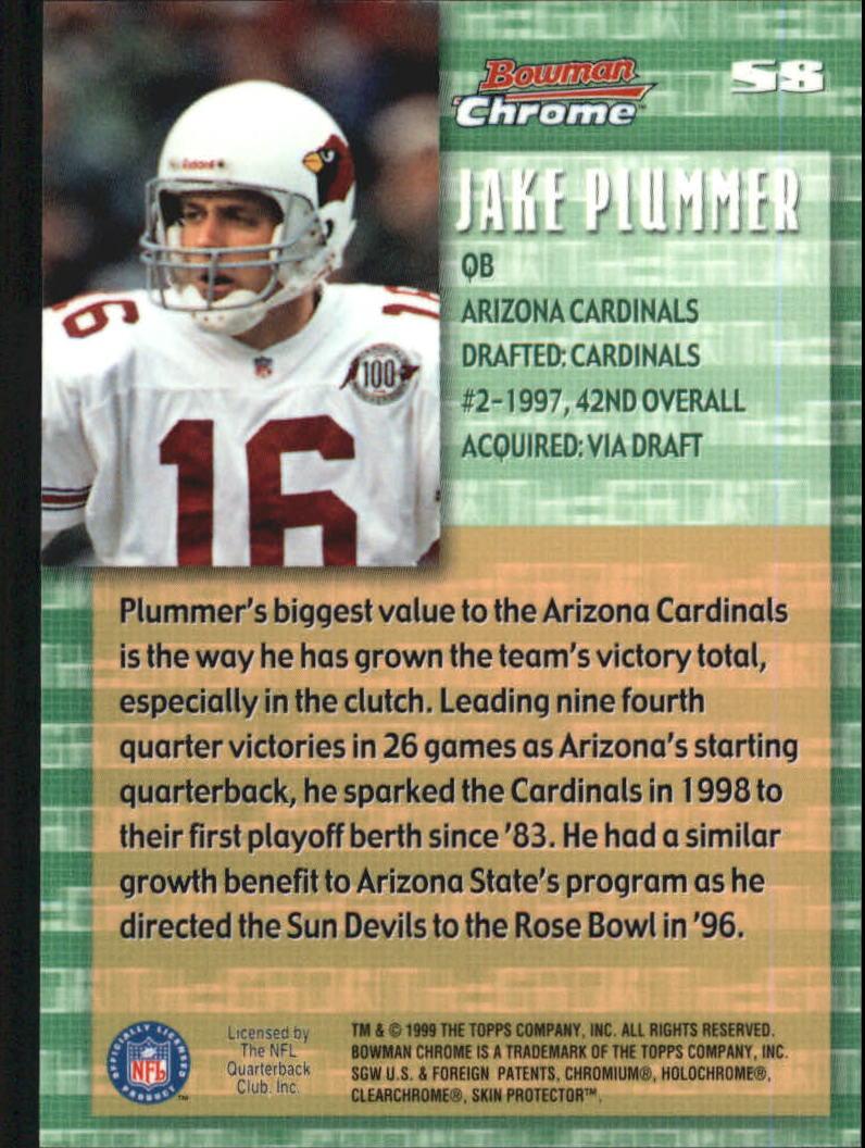 1999 Bowman Chrome Stock in the Game #S8 Jake Plummer back image