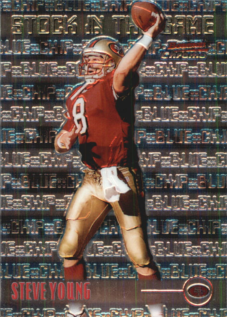 1999 Bowman Chrome Stock in the Game #S17 Steve Young