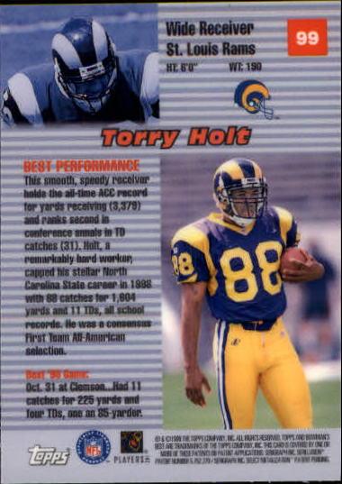 1999 Bowman's Best #99 Torry Holt BP back image