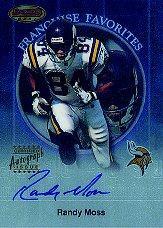 1999 Bowman's Best Franchise Favorites Autographs #FA4 Randy Moss