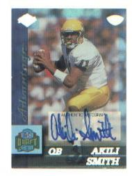 1999 Collector's Edge Advantage Rookie Autographs Blue Numbered #183 Akili Smith