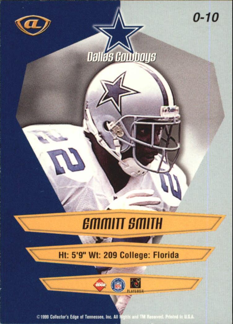 1999 Collector's Edge Advantage Overture #10 Emmitt Smith back image