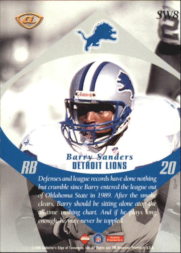 1999 Collector's Edge Advantage Shockwaves #SW8 Barry Sanders back image