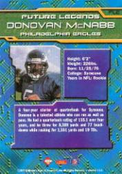1999 Collector's Edge First Place Future Legends #FL2 Donovan McNabb back image