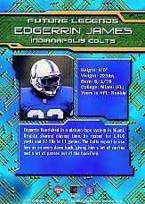 1999 Collector's Edge First Place Future Legends #FL4 Edgerrin James back image