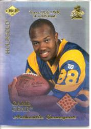 1999 Collector's Edge First Place Rookie Game Gear HoloGold #RG8 Torry Holt
