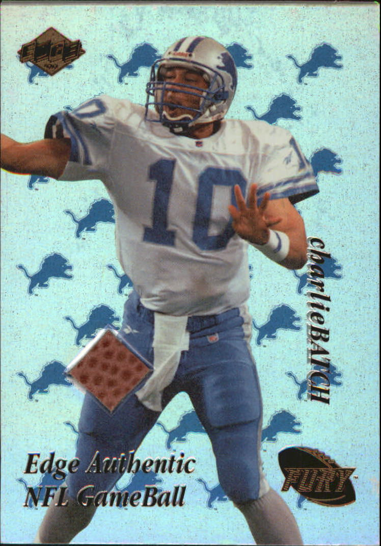 1999 Collector's Edge Fury Game Ball #CB Charlie Batch