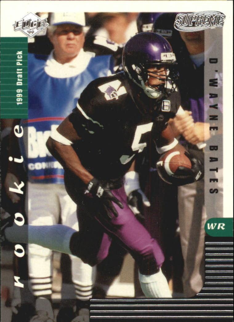 1999 Collector's Edge Supreme #134 D'Wayne Bates RC