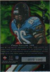 1999 Collector's Edge Triumph K-Klub Y3K #KK29 Fred Taylor back image