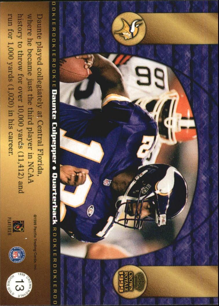 1999 Crown Royale Rookie Gold #13 Daunte Culpepper back image