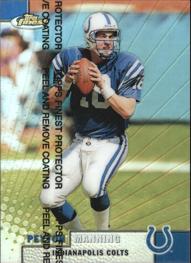 1999 Finest Refractors #1 Peyton Manning