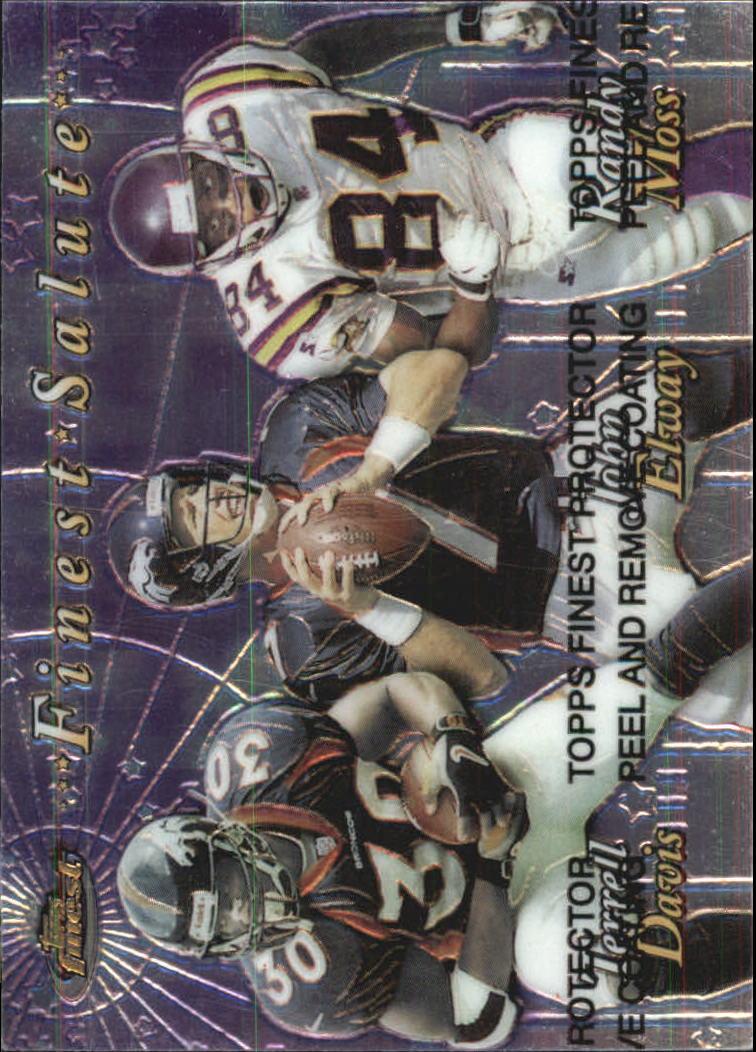 1999 Finest Salute #FS Terrell Davis/John Elway/Randy Moss