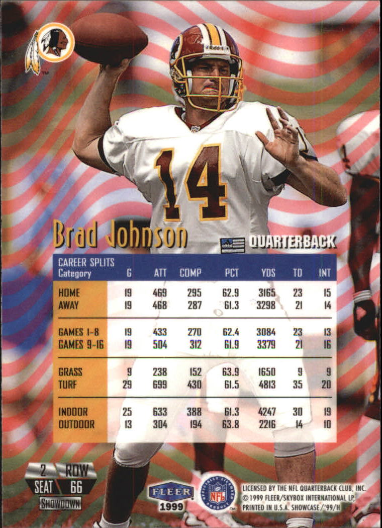 1999 Flair Showcase #66 Brad Johnson PN back image