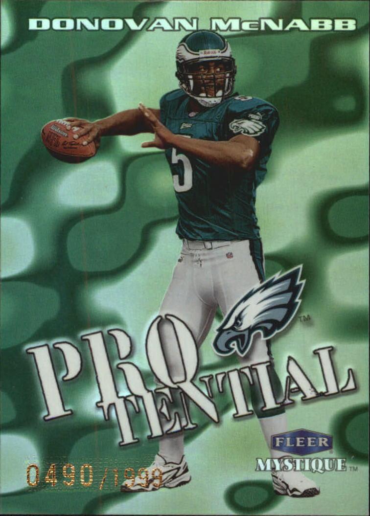 1999 Fleer Mystique Protential #2PT Donovan McNabb