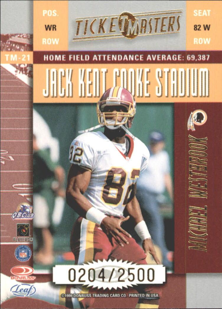1999 Leaf Rookies and Stars Ticket Masters #TM21 M.Westbrook/B.Johnson back image