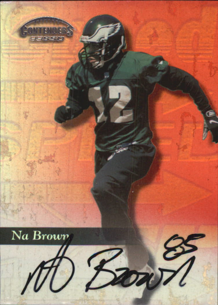 1999 Playoff Contenders SSD Speed Red #181 Na Brown