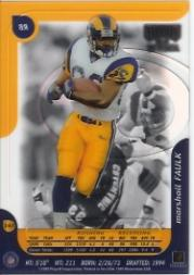 1999 Playoff Momentum SSD #143 Marshall Faulk back image