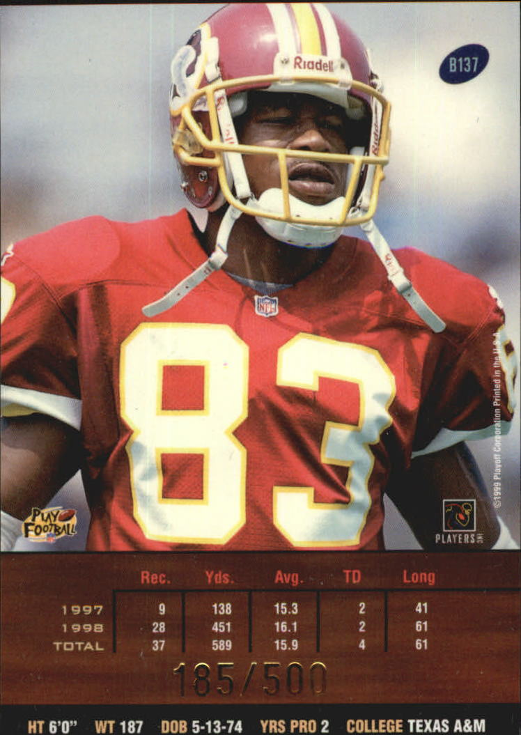 1999 Playoff Prestige SSD Spectrum Red #137 Albert Connell back image