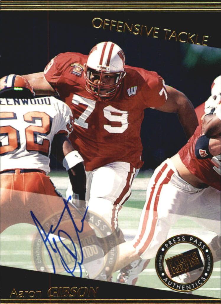 1999 Press Pass Autographs #41 Aaron Gibson