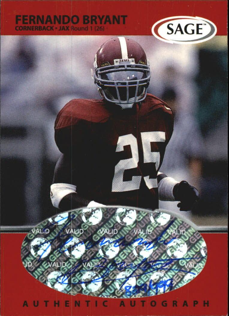 1999 SAGE Autographs Red #A7 Fernando Bryant/999