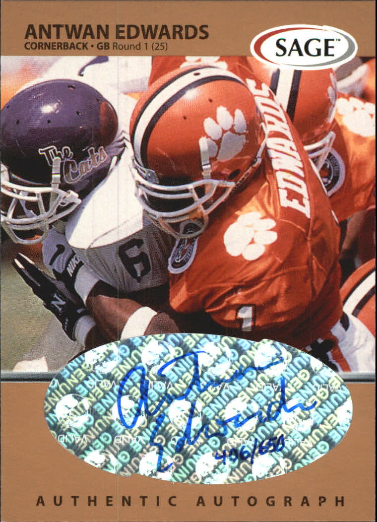 1999 SAGE Autographs Bronze #A16 Antuan Edwards/650