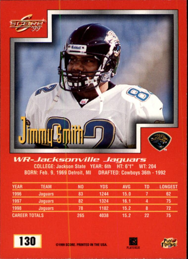 1999 Score #130 Jimmy Smith back image