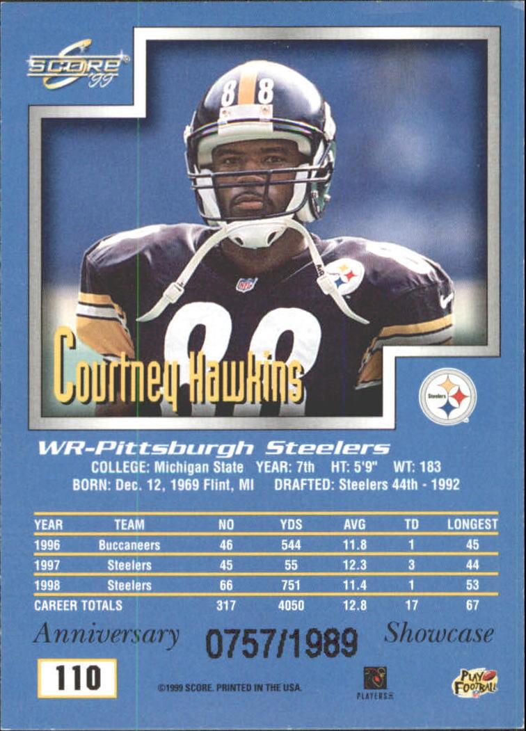 1999 Score Showcase #110 Courtney Hawkins back image