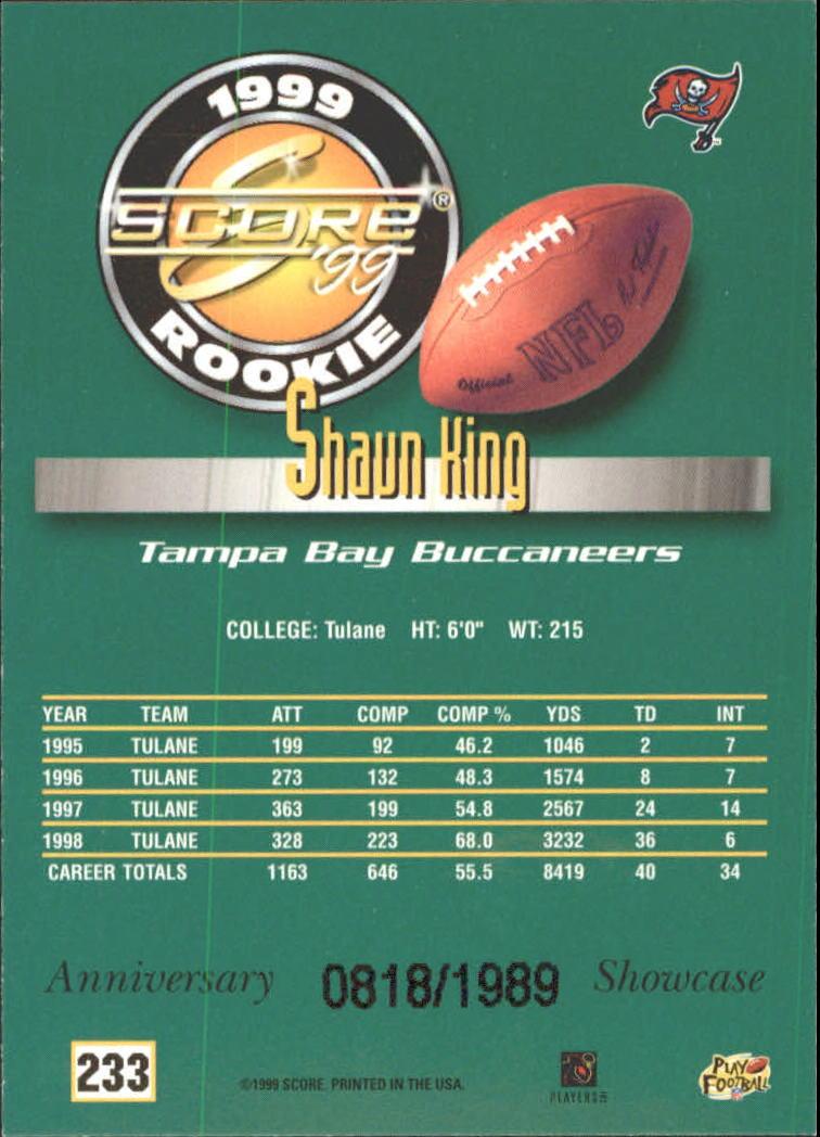 1999 Score Showcase #233 Shaun King back image