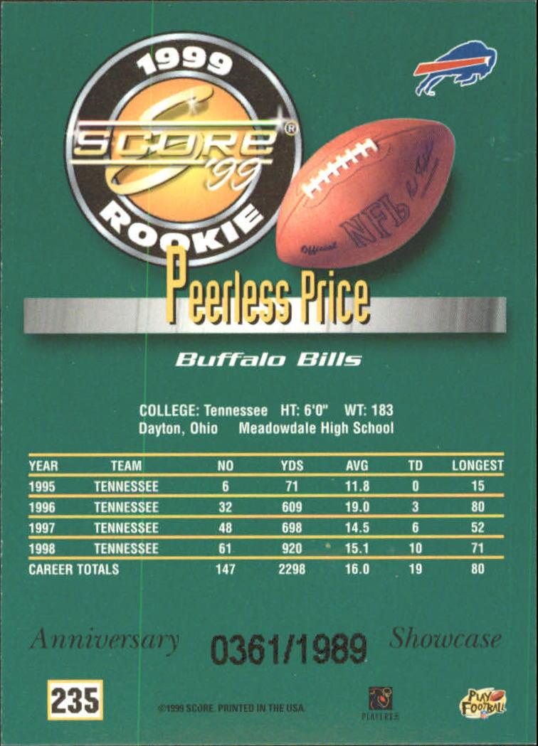 1999 Score Showcase #235 Peerless Price back image
