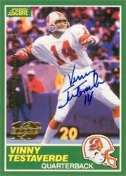1999 Score 10th Anniversary Reprints Autographs #16 Vinny Testaverde