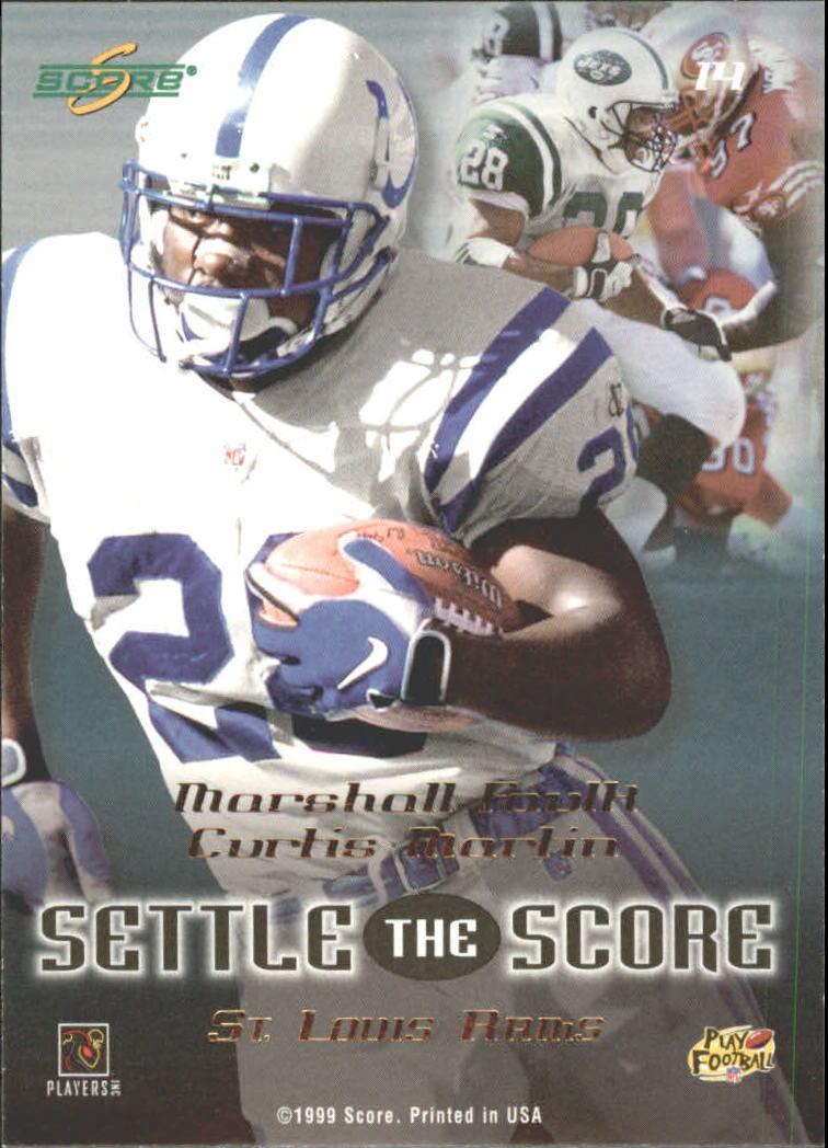1999 Score Settle the Score #14 C.Martin/M.Faulk back image