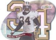 1999 Score Supplemental Behind the Numbers #BN24 Ricky Williams