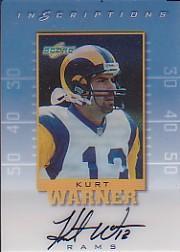 1999 Score Supplemental Inscriptions #KW13 Kurt Warner