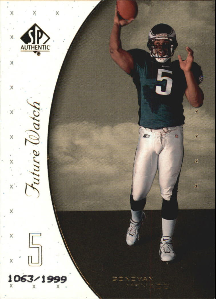 1999 SP Authentic #95 Donovan McNabb RC