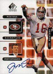 1999 SP Signature Montana Signature Performances #J6A Joe Montana