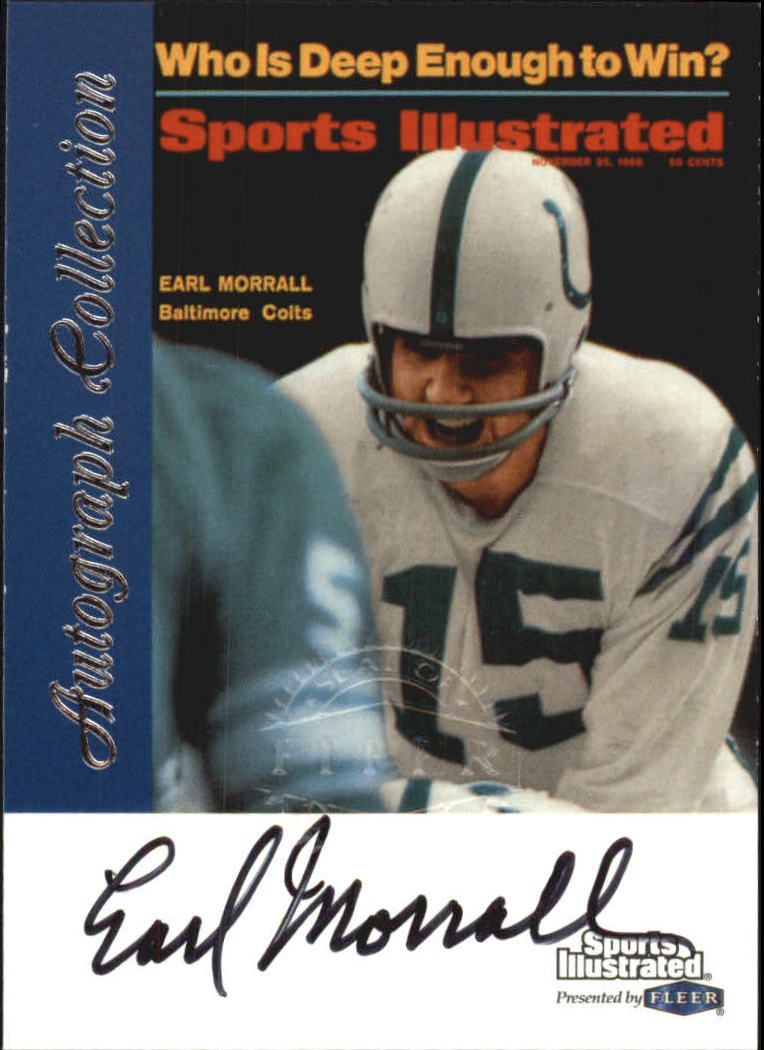 1999 Sports Illustrated Autographs #21 Earl Morrall