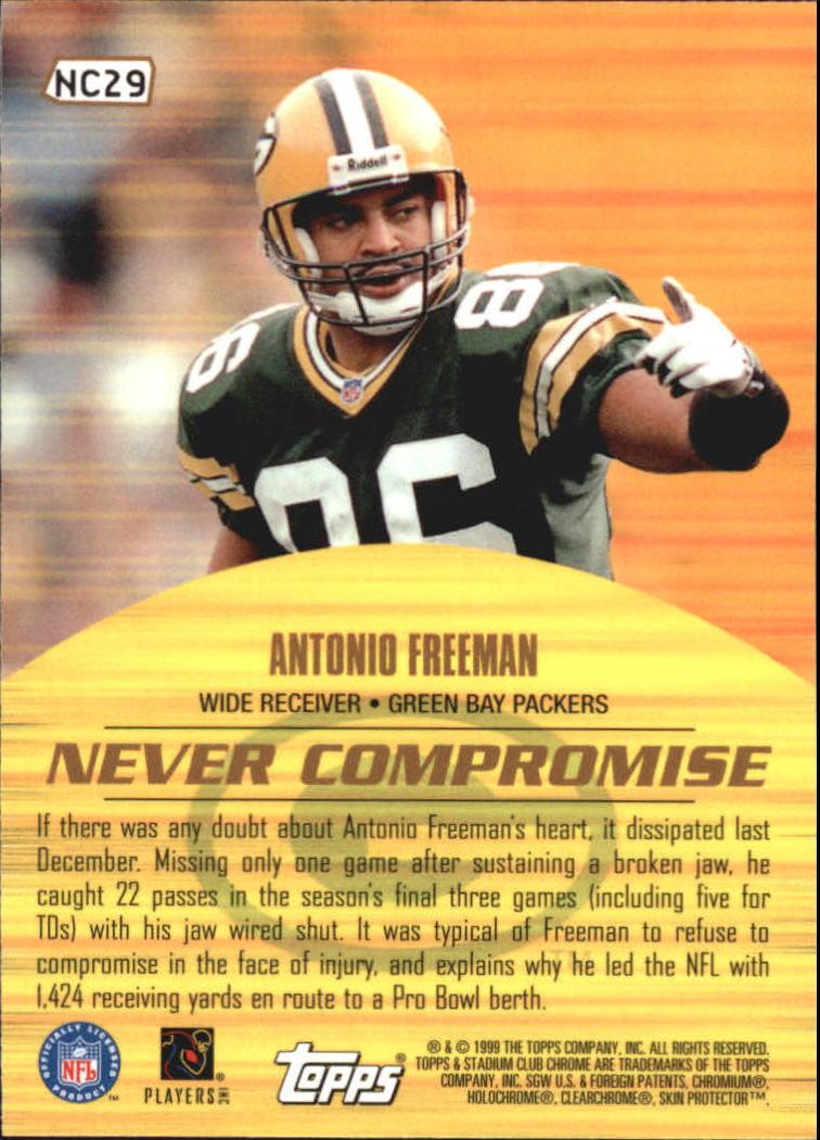 1999 Stadium Club Chrome Never Compromise #NC29 Antonio Freeman back image