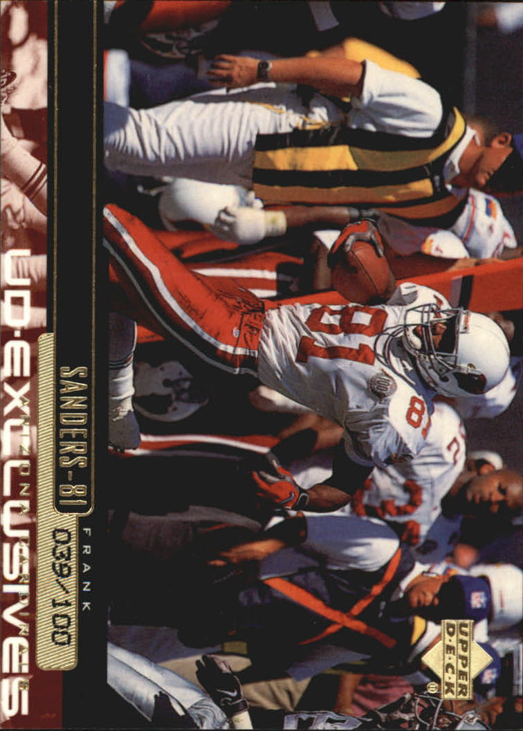 1999 Upper Deck Exclusives 100 #7 Frank Sanders