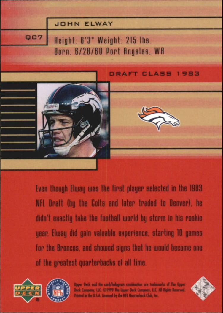 1999 Upper Deck Quarterback Class #QC7 John Elway back image