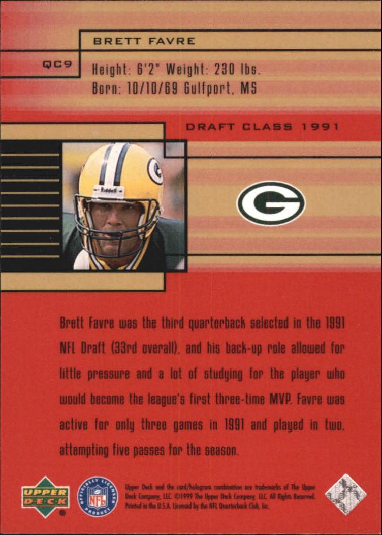 1999 Upper Deck Quarterback Class #QC9 Brett Favre back image