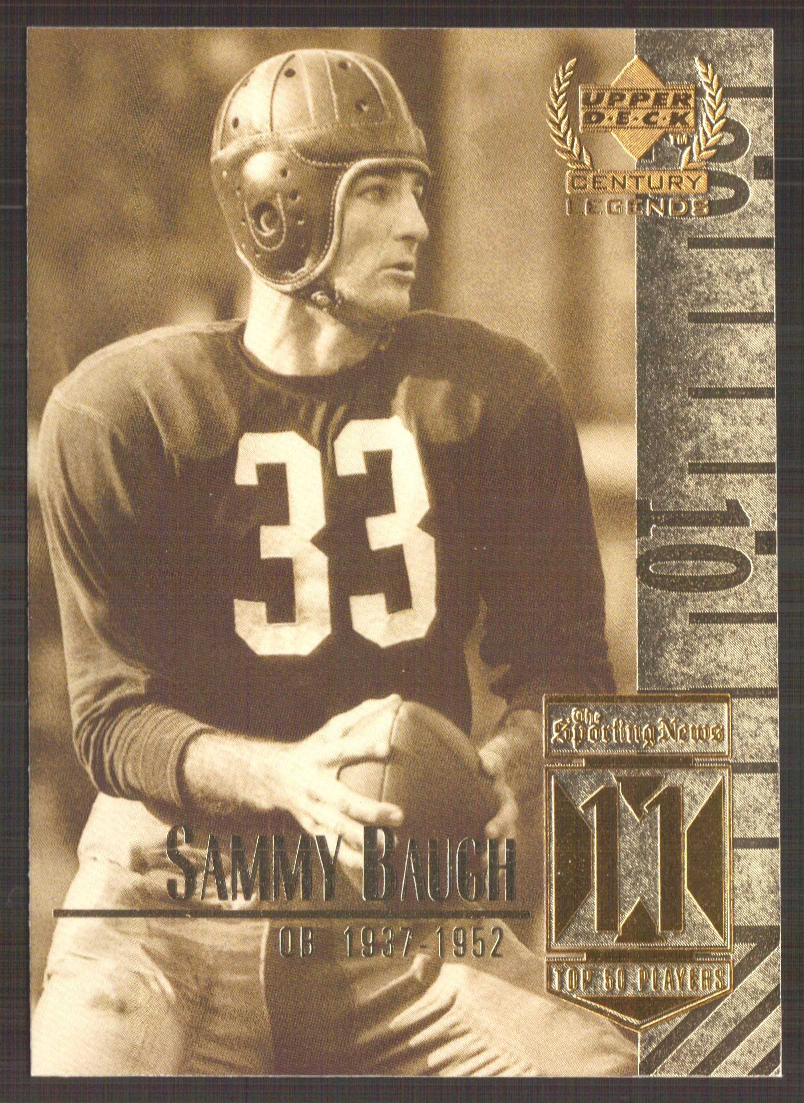 1999 Upper Deck Century Legends #11 Sammy Baugh