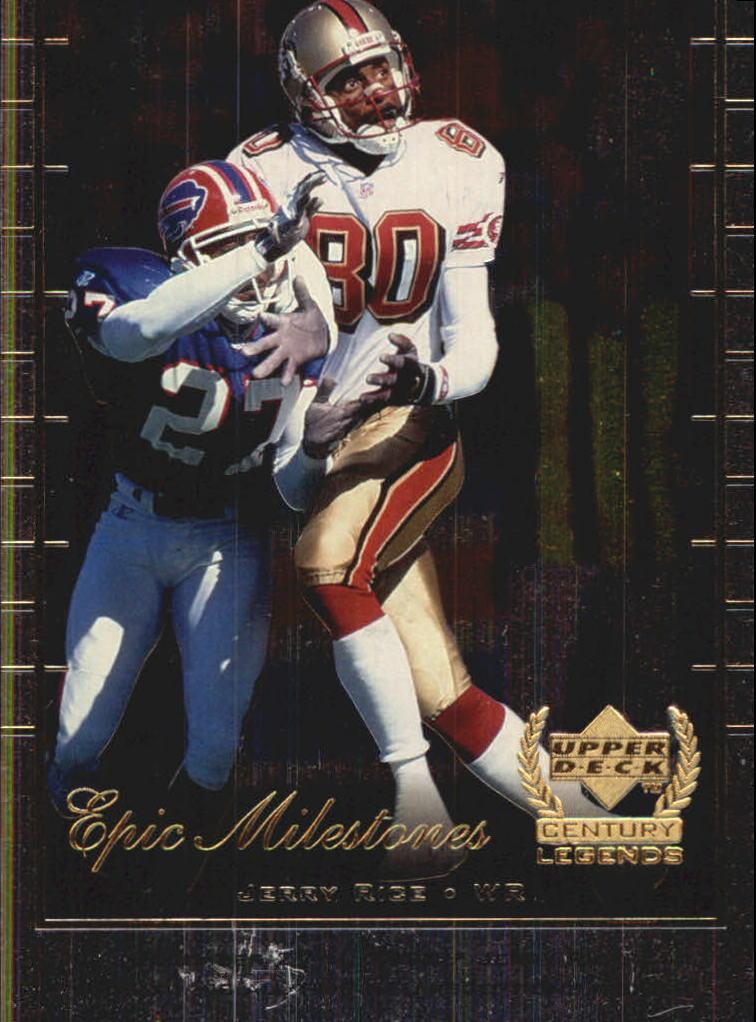 1999 Upper Deck Century Legends Epic Milestones #EM7 Jerry Rice