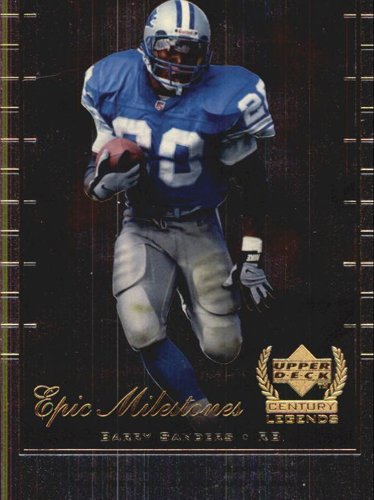 1999 Upper Deck Century Legends Epic Milestones #EM8 Barry Sanders