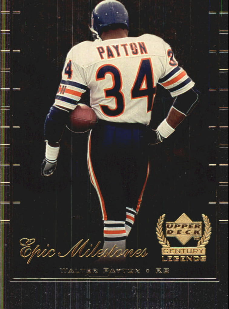 1999 Upper Deck Century Legends Epic Milestones #EM10 Walter Payton