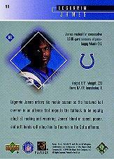 1999 Upper Deck HoloGrFX 24/7 #N11 Edgerrin James back image