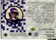 1999 Upper Deck MVP Game Used Souvenirs #RMS Randy Moss back image