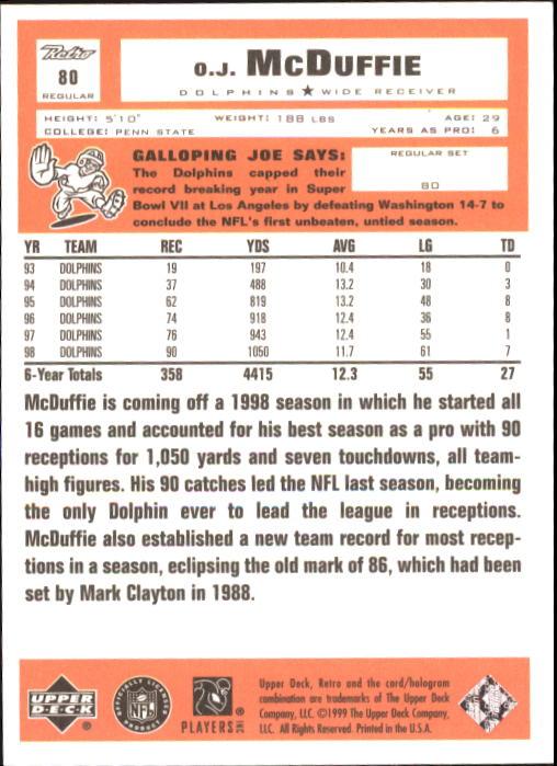 1999 Upper Deck Retro #79 Dan Marino back image
