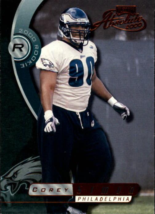 2000 Absolute #154 Corey Simon RC